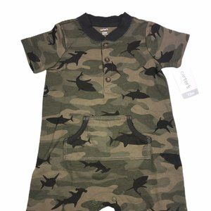 Carters Camo One Piece Romper 12 Months